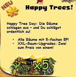 Glücklicher Baum Tag