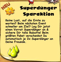 Superdünger Sparaktion